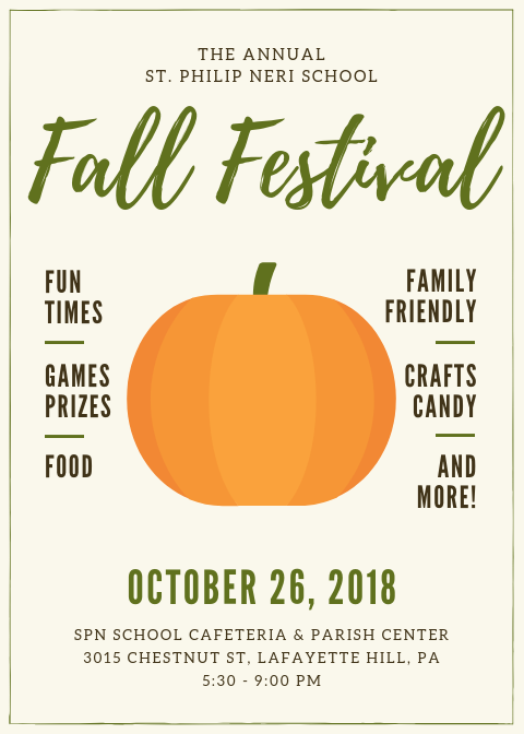 Fall Festival Saint Philip Neri